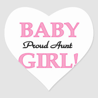 Proud Aunt Baby Girl T-shirts and Gifts Heart Sticker