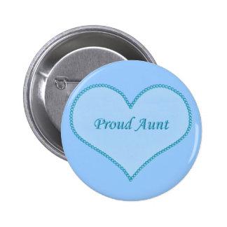 Proud Aunt Button, Blue
