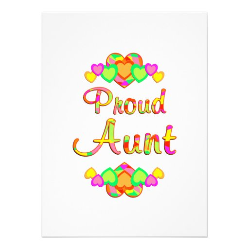 Proud Aunt Personalized Invitations