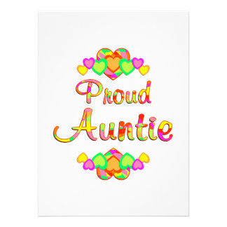 Proud Auntie Personalized Invitation