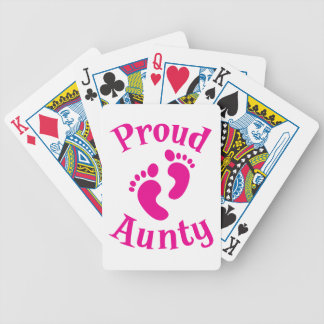 proud aunty with cute feet bicycle playing cards