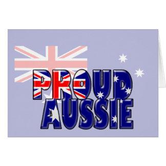 proud Aussie Greeting Card