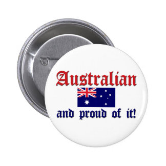 Proud Australian 6 Cm Round Badge