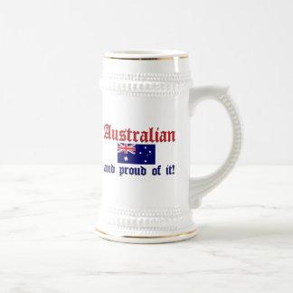 Proud Australian 18 Oz Beer Stein