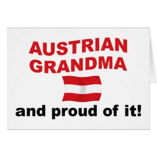 Proud Austrian Grandma Card