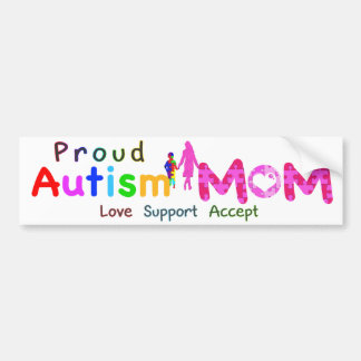 Proud Autism Mom Bumper Sticker