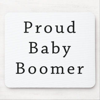 Proud Baby Boomer Text Only Mouse Pad