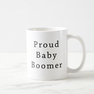 Proud Baby Boomer Text Only Coffee Mugs