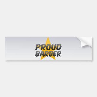 Proud Barber Bumper Sticker