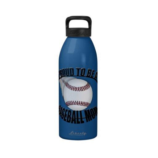Proud Baseball Mom Water Bottle