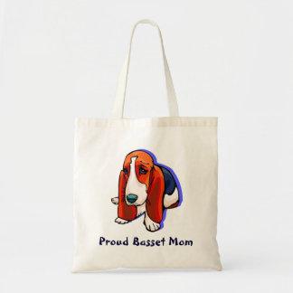 Proud Basset Mom Tote Bag