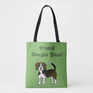 Proud Beagle Mom Tote Bag