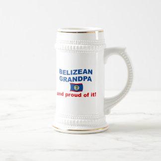 Proud Belizean Grandpa Beer Stein