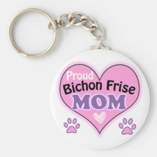 Proud Bichon Frise Mom Key Ring