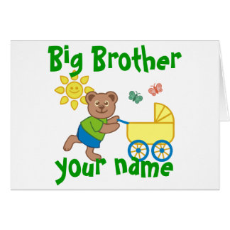 Proud Big Brother Note Card