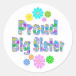 Proud Big Sister Classic Round Sticker