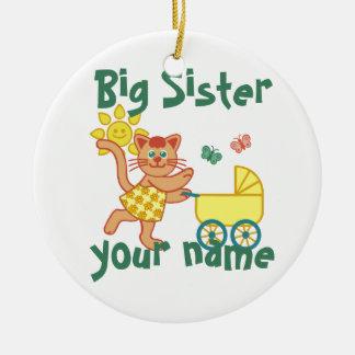 Proud Big Sister Round Ceramic Decoration