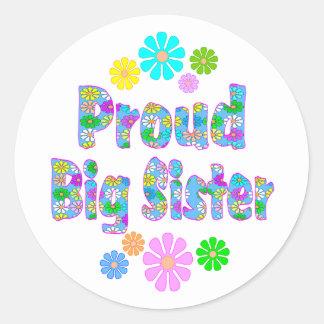 Proud Big Sister Round Sticker