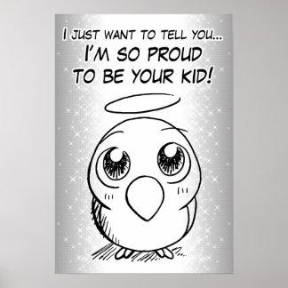 Proud bird kid poster