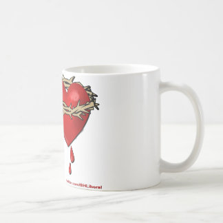Proud Bleeding Heart Liberal Coffee Mug