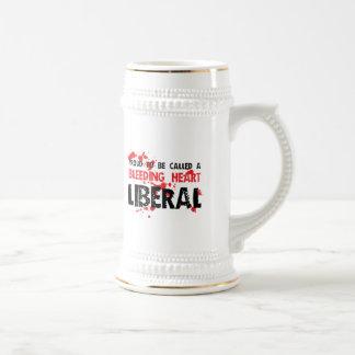 Proud Bleeding Heart Liberal Beer Steins