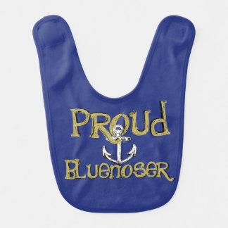 Proud Bluenoser Nova Scotia anchor  baby bib