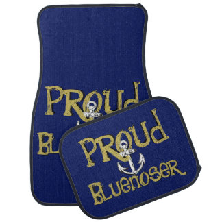 Proud Bluenoser Nova Scotia anchor    Car Mats