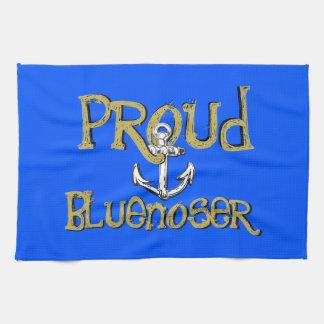 Proud Bluenoser Nova Scotia anchor kitchen towel