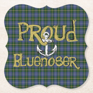 Proud Bluenoser Nova Scotia anchor paper coaster