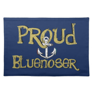 Proud Bluenoser Nova Scotia anchor   place mat