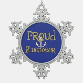 Proud Bluenoser Nova Scotia anchor tree ornament