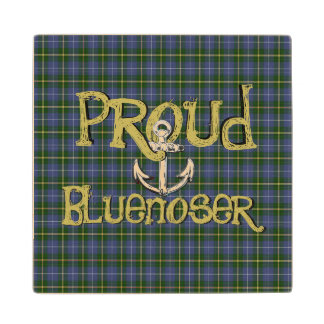 Proud Bluenoser Nova Scotia anchor    wood coaster