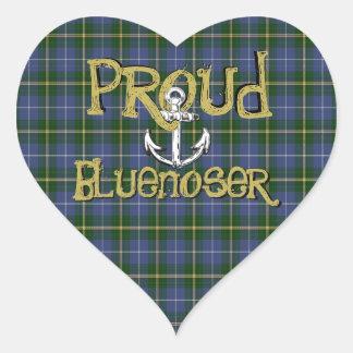 Proud Bluenoser Nova Scotia tartan anchor sticker