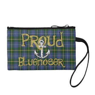 Proud Bluenoser Nova Scotia tartan wristlet purse
