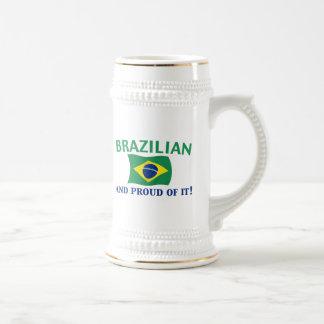Proud Brazilian Beer Steins