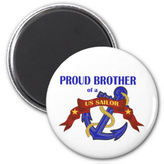 Proud Brother of a US Sailor 6 Cm Round Magnet