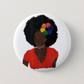 Proud Brown Lady 6 Cm Round Badge