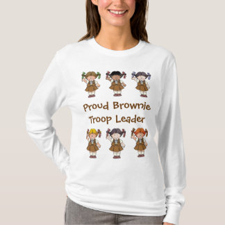 Proud Brownie Troop Leader Brownie Rows T-Shirt