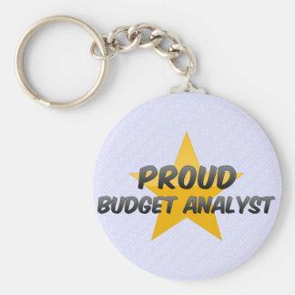 Proud Budget Analyst Keychains