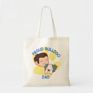 Proud Bulldog Dad Tote Bag
