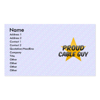 Proud Cable Guy Pack Of Standard Business Cards