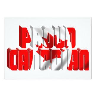 Proud Canadian 13 Cm X 18 Cm Invitation Card