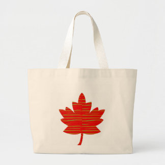 Proud Canadian MAPLE LEAF :ENERGETIC  Red on Silk Tote Bag