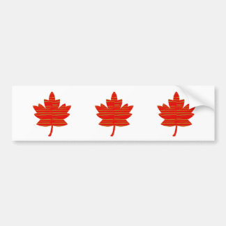 Proud Canadian MAPLE LEAF :ENERGETIC  Red on Silk Car Bumper Sticker