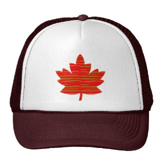 Proud Canadian MAPLE LEAF ENERGETIC Red on Silk Hats