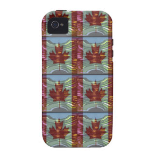PROUD CANADIAN MAPLE LEAF Pattern iPhone 4/4S Covers