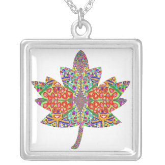 PROUD Canadian Maple Leaf Square Pendant Necklace