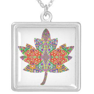 PROUD Canadian Maple Leaf Square Pendant Necklace