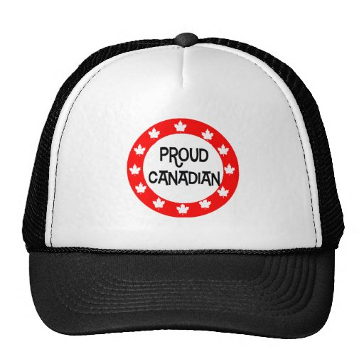 Proud Canadian - Red Frame Trucker Hat