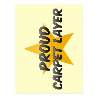 Proud Carpet Layer Post Cards